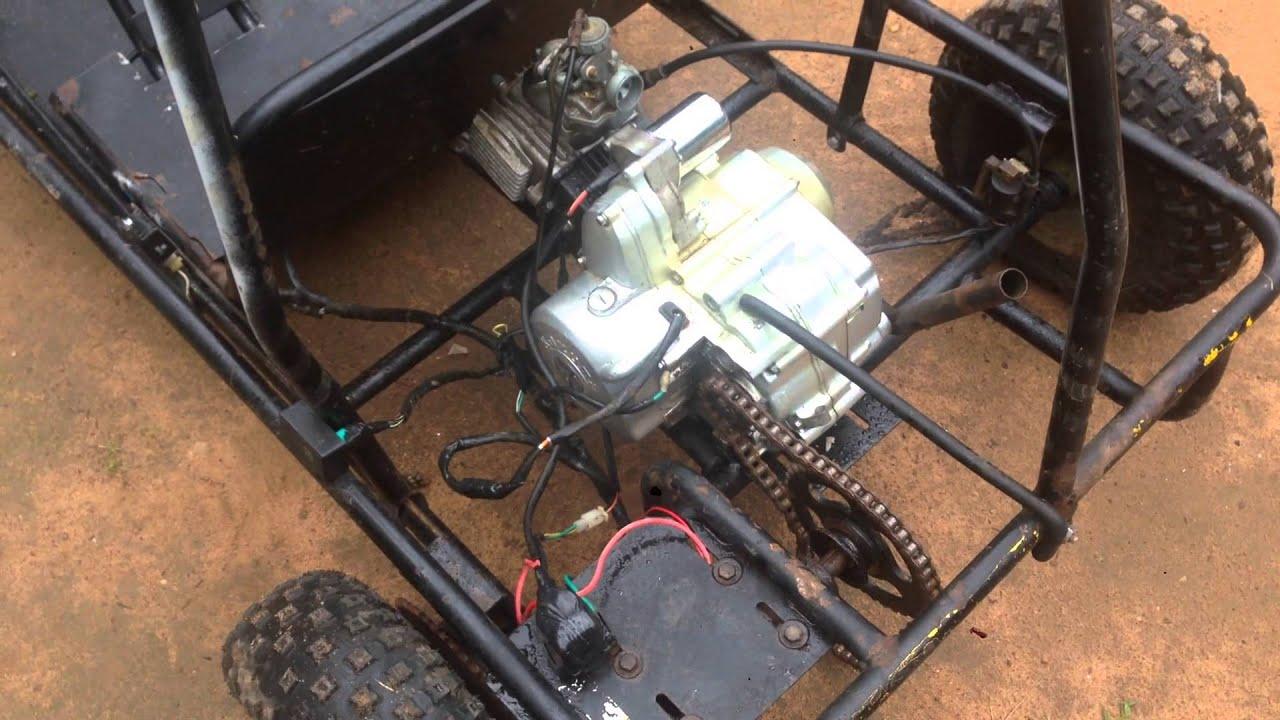 Kazuma 110 Atv Wiring Detailed Schematics Diagram 90cc 110cc Motor On Gocart Part 1 Youtube Drive Chain For