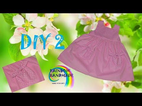 DIY: Розовый сарафан. Юбка и расположение карманов/Tender pink dress. Skirt and placement of pockets