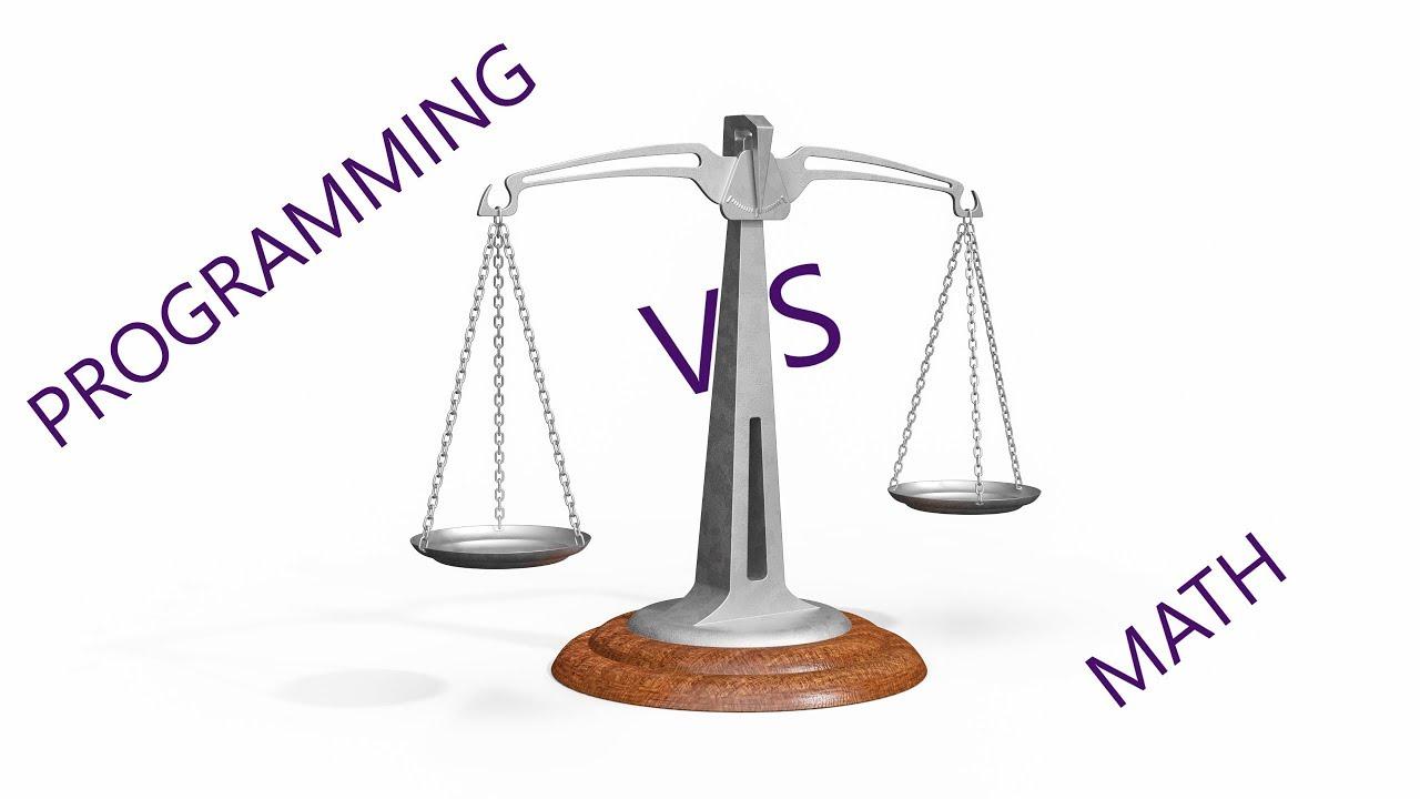 Programming vs Math - YouTube