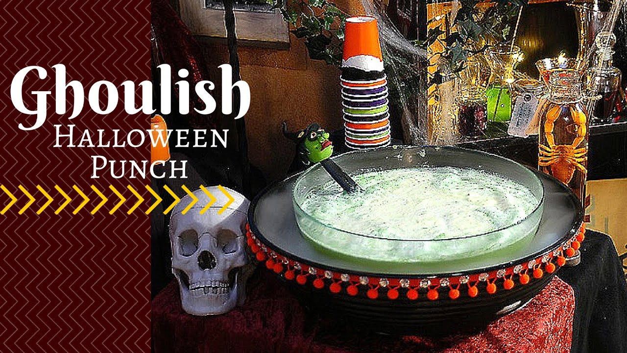 How To Make A Ghoulish Halloween Punch For Kids