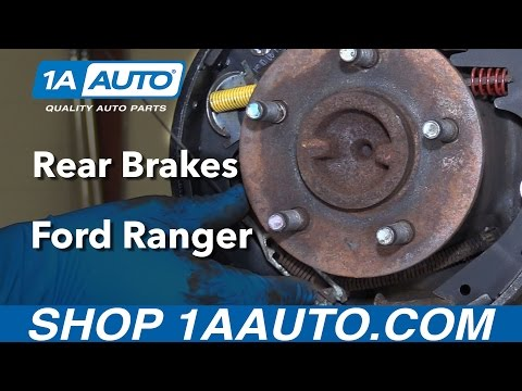 How to Install Replace Rear Drum Brakes 1995-09 Ford Ranger Buy parts at 1AAuto.com