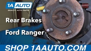 How to Replace Rear Drum Brakes 95-09 Ford Ranger