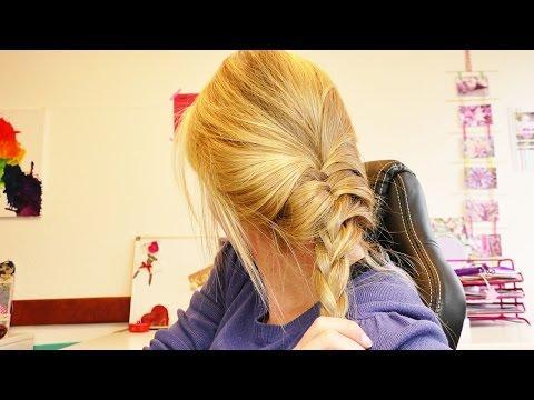 Schnelle Flechtfrisur mit Fischgrätenzopf | Einfache Frisur für lange Haare | für Alltag & Schule