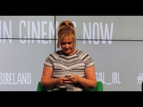 Amy Schumer tweeted from my Twitter account - Trainwreck Q & A In Google Dublin | Clisarevlogs