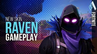 *NEW* Raven Skin and Feathered Flyer GAMEPLAY! | Fortnite Battle Royale