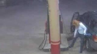 gas station smoking