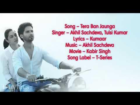 ' Meri Rahe Tere Tak Hai ' Kabir Singh  New Movie Song