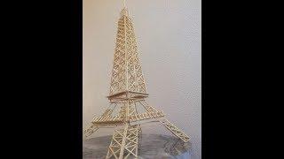 Maket çubuklar ile eyfel kulesi yapımı