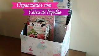 ORGANIZADOR COM CAIXA DE PAPELÃO