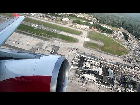 Airbus A320. Takeoff and Landing. Milan Malpensa - Wien. Austrian Flight OS518