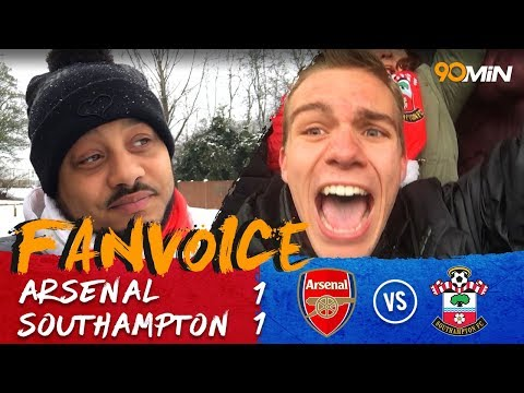 Southampton 1-1 Arsenal | Late goal salvage a point for the Gunners | 90min FanVoice