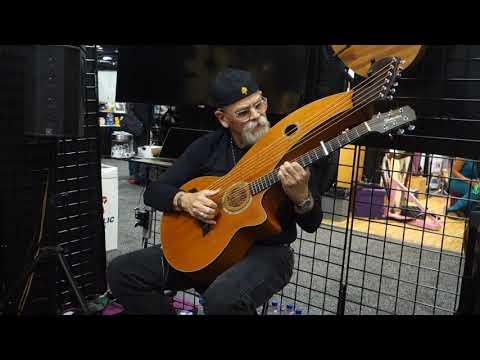 Jim Earp Playing A Harp Guitar Solo - NAMM January 2019