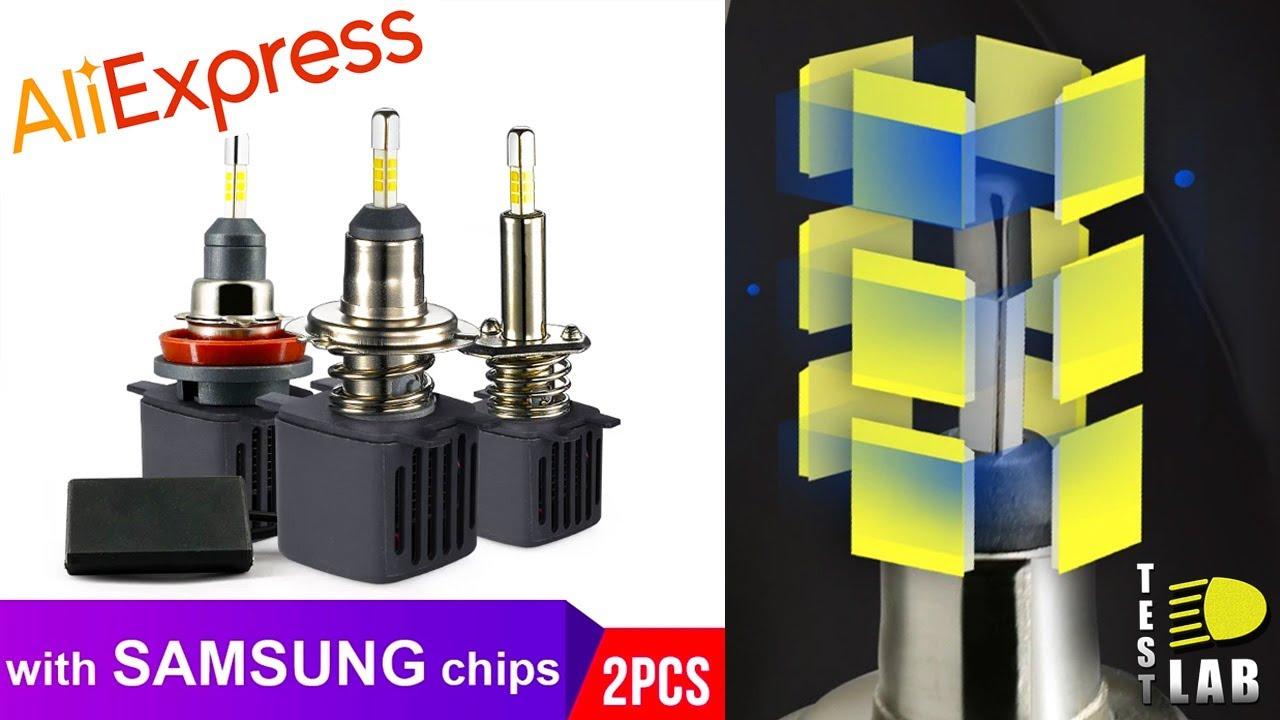 Тест LED 360 v2 . Светодиодные лампы для линз с Aliexpress