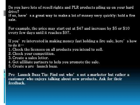 How To Make Money Fast With Resell Rights And PLR Products