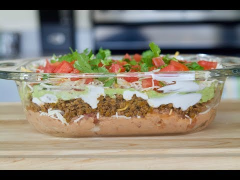Seven Layer Taco Dip Recipe | How To Make A Taco Dip | SyS