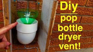 How to Make ● SODA BOTTLE DRYER VENT ● Seals out cold 100% Video