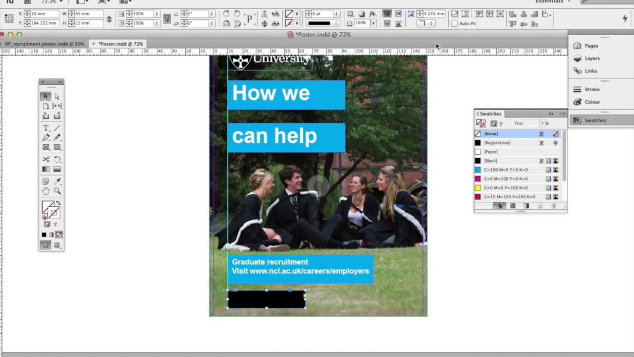 how to make a poster in indesign