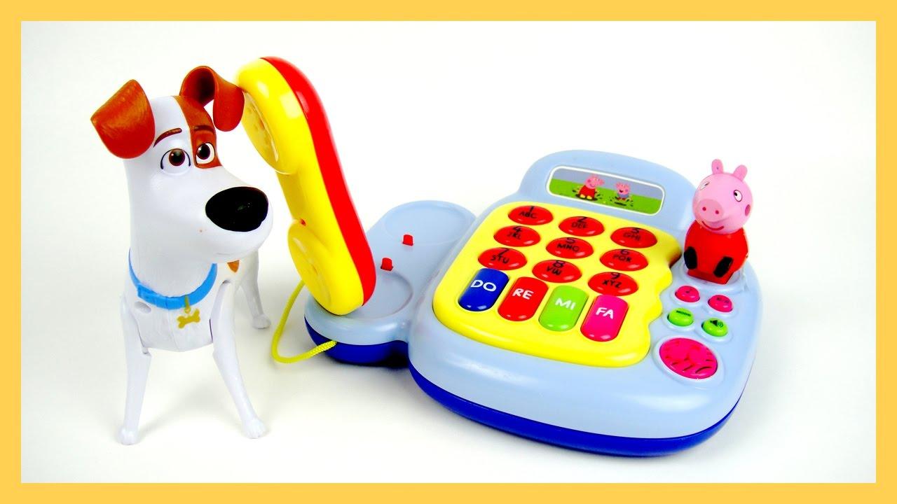 玩粉紅豬小妹 佩佩豬 鋼琴 電話 音樂 發聲玩具 寵物當家 驚喜蛋 打電話 玩具開箱 - YouTube