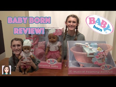 Baby Born Interactive Doll and Musical Foaming Bathtub Review!