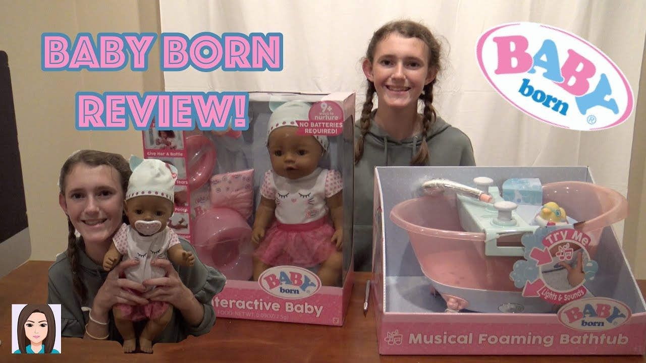 3cf29088cab Baby Born Interactive Doll and Musical Foaming Bathtub Review! - YouTube