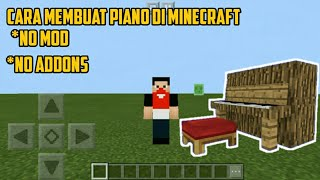 Cara membuat Piano di Minecraft No mod No addons