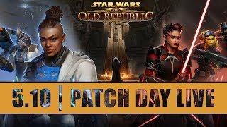 SWTOR 5.10 - Jedi Under Siege Walkthroughs | Patch Day Live Stream