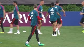 De Gea Entrena con la Selección Española