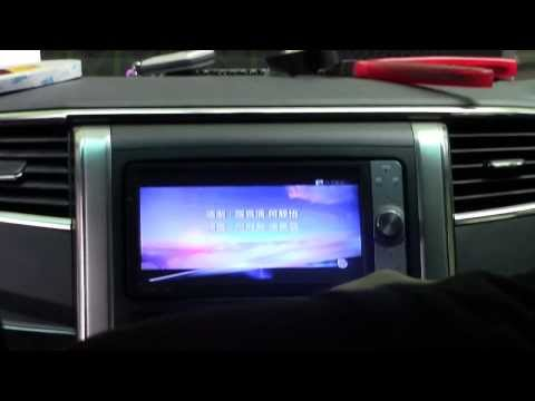 Toyota Vellfire (ANH20) - Fm Conversion with PAPAGO Gps & OEM roof monitor