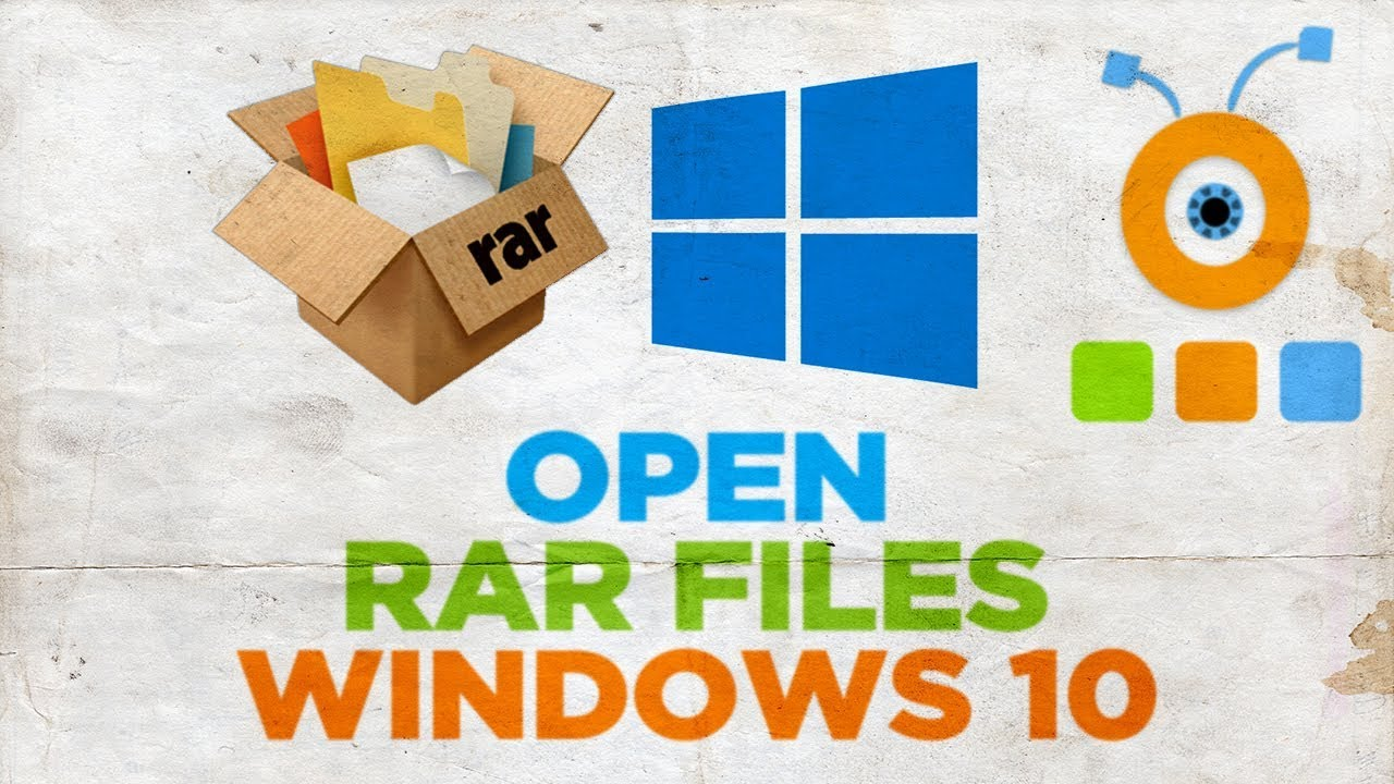 open rar files windows 10