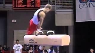 Brett McClure - Pommel Horse - 2001 U.S. Gymnastics Championships - Men