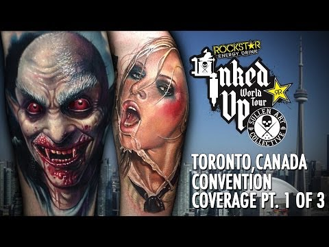 Rockstar Energy Inked Up Tour Tattoo Convention Coverage Toronto Canada part 1 of 3