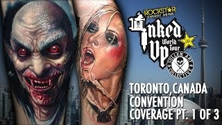 Rockstar Energy Inked Up Tour Tattoo Convention Coverage Toronto Canada part 1 of 3(, 2014-07-03T19:40:16.000Z)