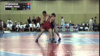 132 f, Mitchell McKee, Minnesota vs Dylan Duncan, Illinois