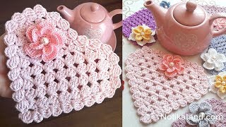 Crochet Doily EASY Crochet Heart doily tutorial