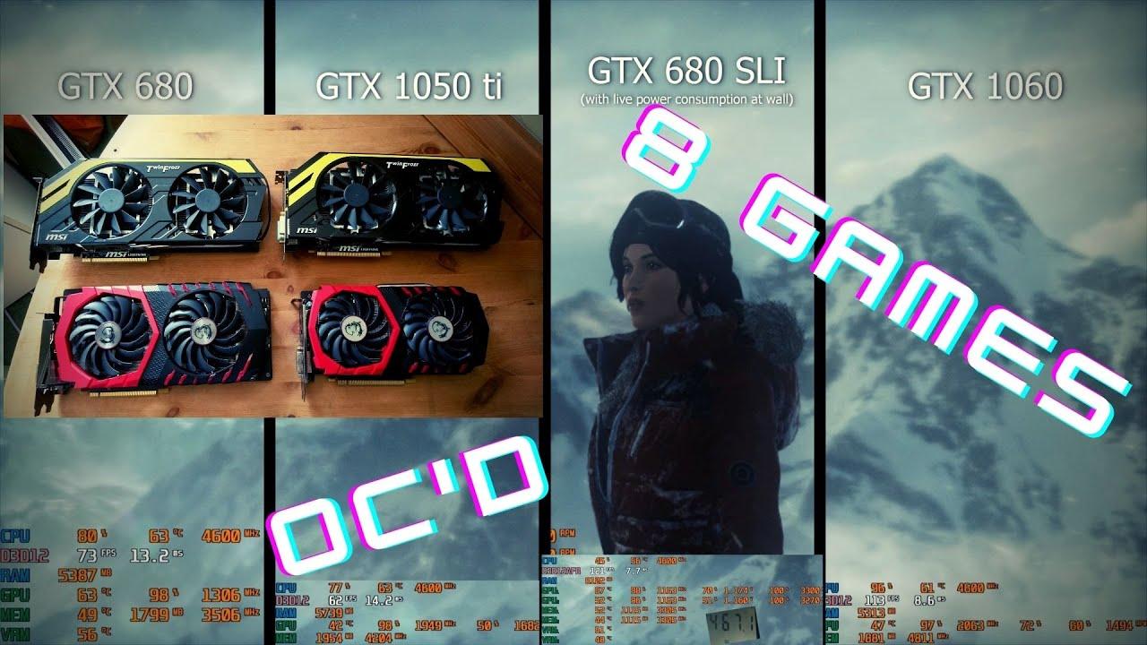 GTX 680 2GB vs SLI vs 1050 ti 4GB vs 1060 6GB in 8 games!   2021