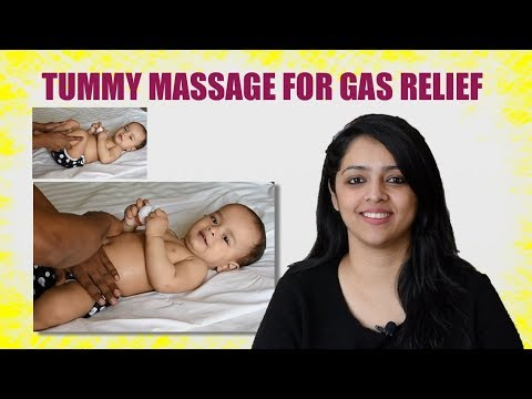 HOW TO DO - BABY TUMMY MASSAGE FOR GAS RELIEF ?
