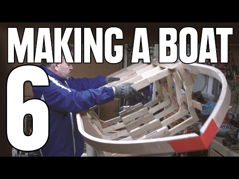 How to Build a Small Wooden Boat #6 Not Using Marine Plywood - Electric Powered - Gunwales & Frames