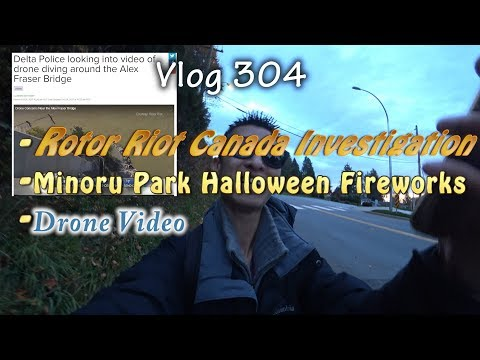 Rotor Riot Police And Transport Canada Investigation Drone Video Minoru Park Halloween Fireworks