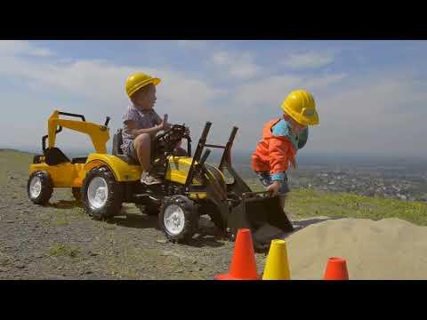 Трактор-экскаватор педальный с прицепом Traktor FALK 2085XC