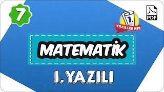 7.Sınıf Matematik 2.Dönem 1.Yazılı  2020