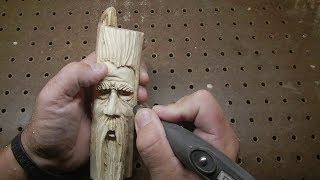 Wizard spirit wood carving Foredom Dremel