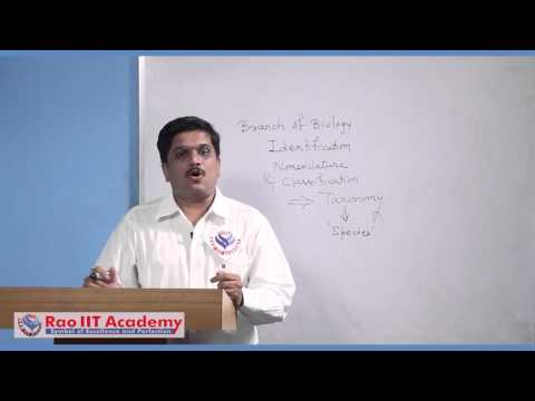 Biodiversity and Taxonomy - NEET AIPMT AIIMS Botany Video Lecture [RAO IIT ACADEMY]