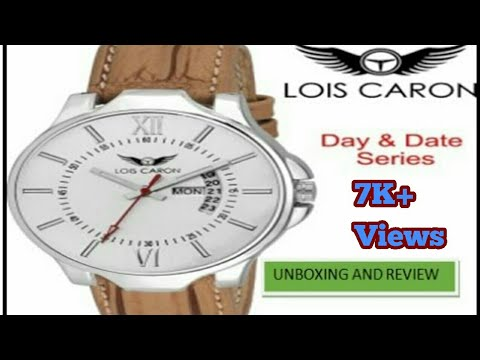 fe4ae773a04 Lois Caron LCS4116 White Day   Date Series Watch - YouTube