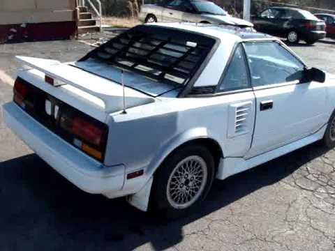Toyota Mr2 1987 >> 1987 Toyota Mr2 Sport Car Youtube