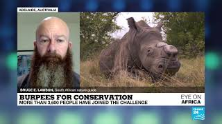 #BurpeesForConservation - France24 interview with Bruce Lawson