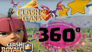 Assistindo vídeo 360 da Supercell (clash of clans e clash Royale)