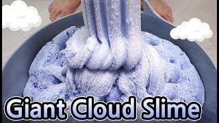 DIY SOFT GIANT CLOUD SLIME!!! How to make?
