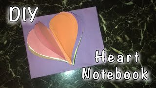 DIY HEART NOTEBOOK -How To Make A Simple Heart Paper