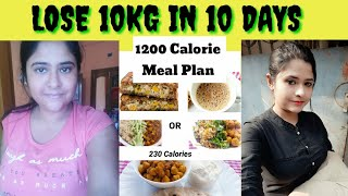 Indian Meal Plan To Lose Weight | lose 10kg in 2 weeks | 1200 calorie diet what i eat in a day