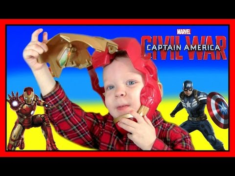 Iron Man Tech FX Mask MARVEL Captain America Civil War Avengers   Lights & Sounds Kids YouTube Video